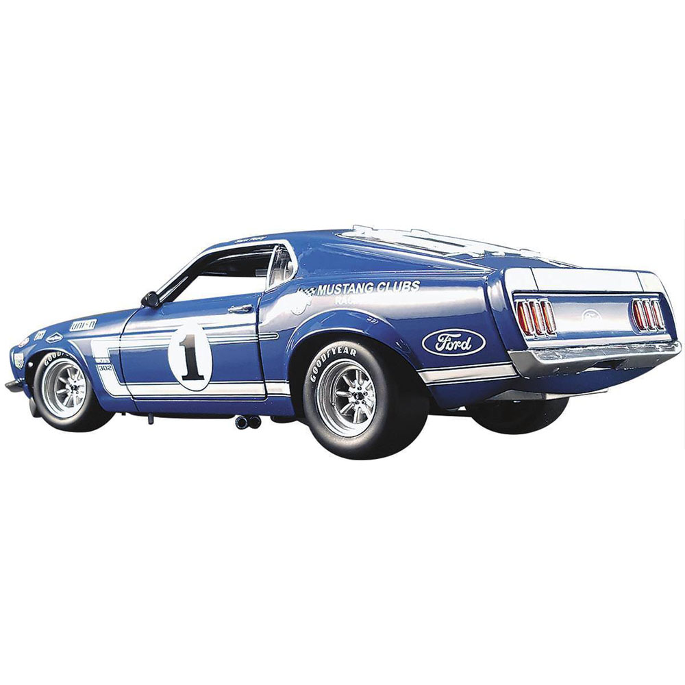 Acme A1801819 Team Shelbys 1969 Ford Mustang Boss 302 Trans Am 1 Home Make 118 Sam Posey